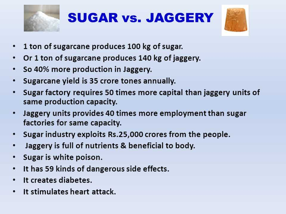 Alternative For Sugar -Jaggery