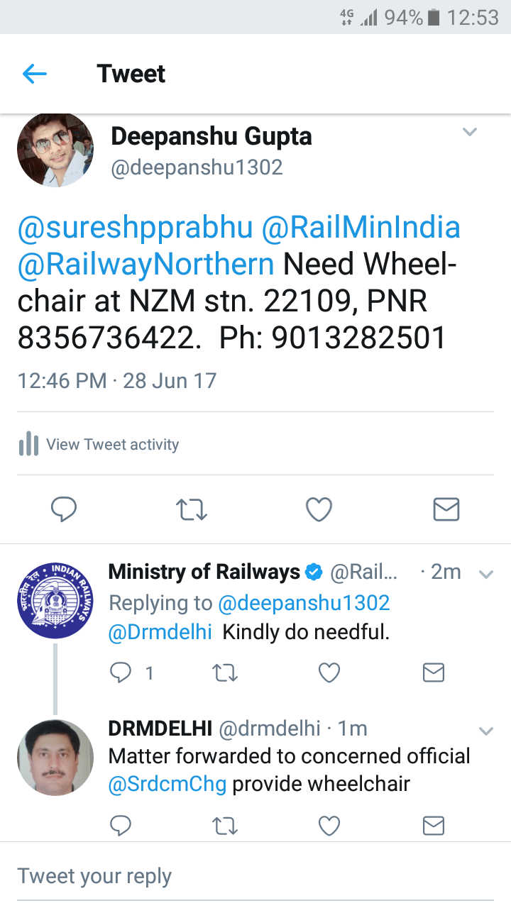 Indian Railways Helped an Old Man In Need