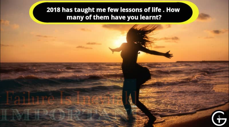 lessons of life 2018