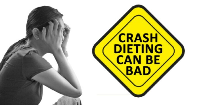 Burst the crash diet bubble. These diets may help you lose some inches quickly, but it is surely not a healthy way