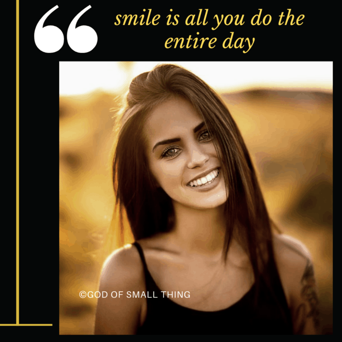 Important signs to know if you're in love: You smile all day!