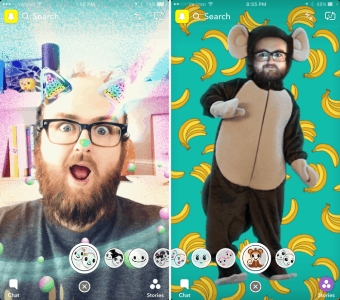 Best augmented reality app for android: Snapchat