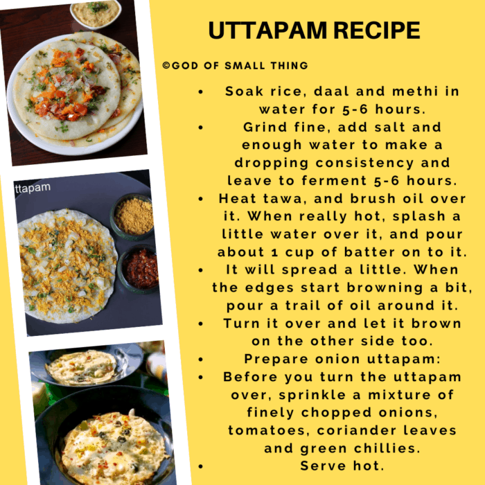 Uttapam Recipe Instructions step by step