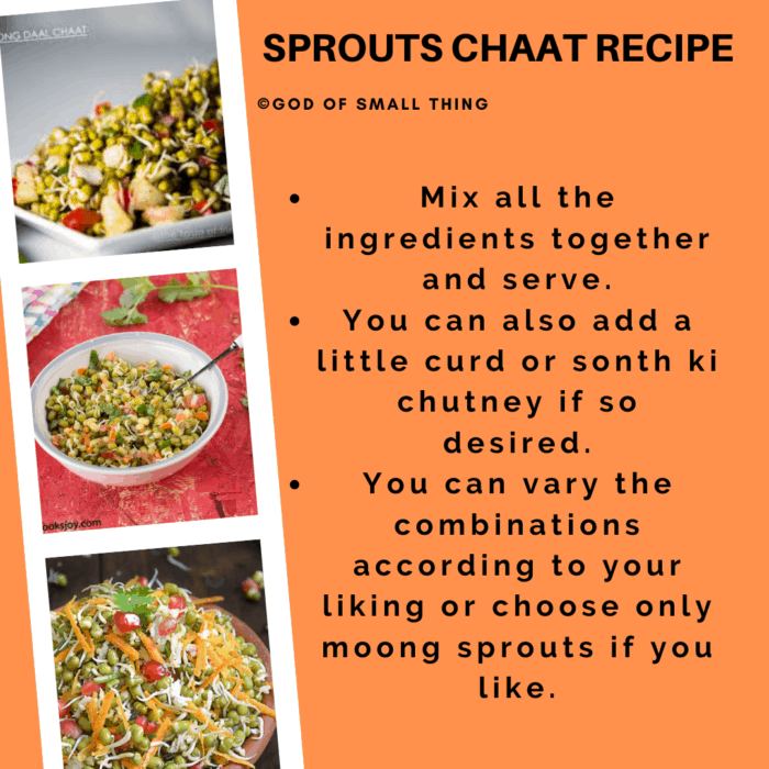 sprouts chaat recipe