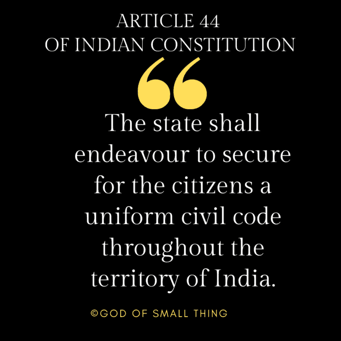 Article 44 of the Indian Constitution
