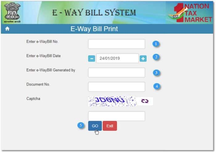 How to print the e-way bill