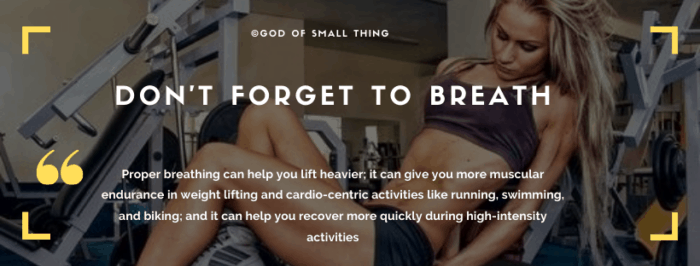 Beginners workout tips: Breath Control