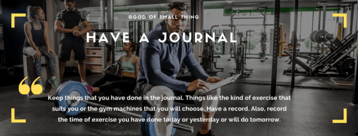 beginners workout tips: Keep track in a Journal