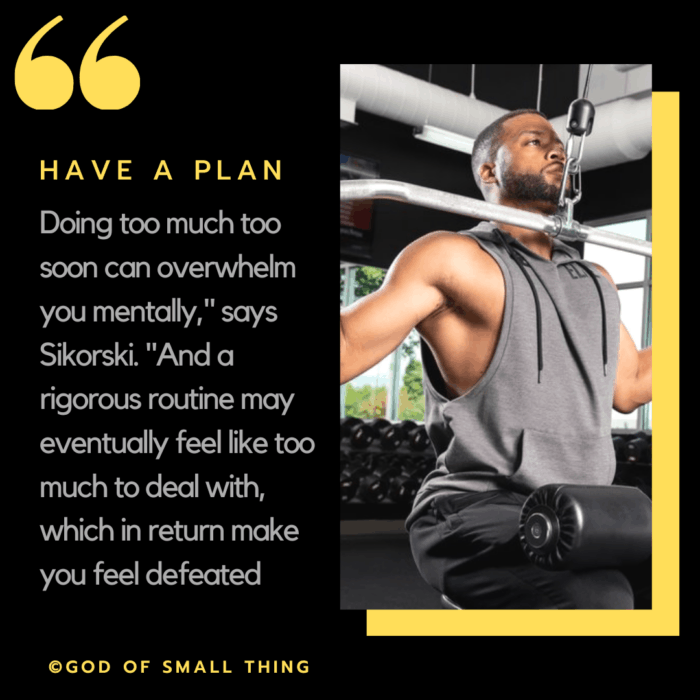 how to start working out again: Create plan!
