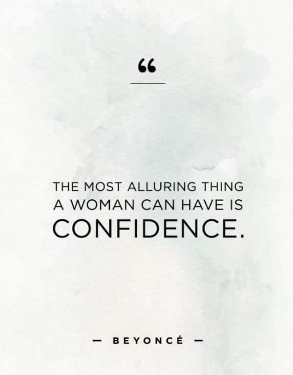 Qualities of a perfect woman: confidence