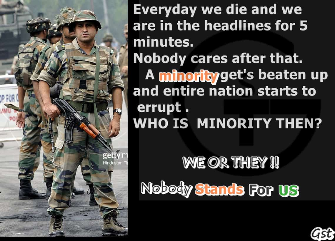 Stand for INDIAN Army
