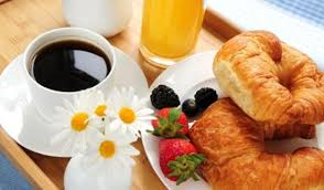 healthy breakfast at morning coffee