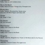 Ardor 2.1 DRINKS MENU