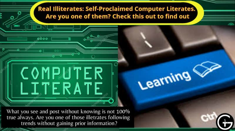 Real Illiterates: Self-Proclaimed Computer Literates