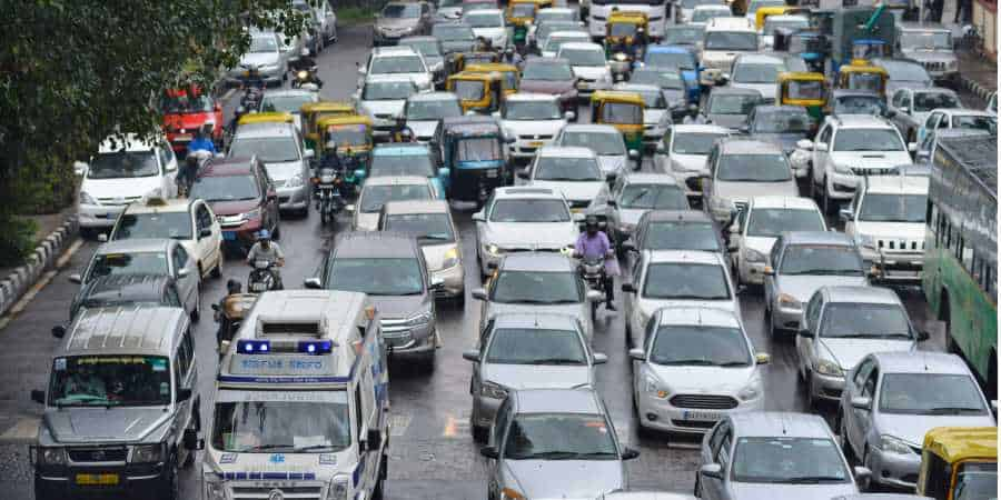 adaptive traffic control system in India. Image Credits: