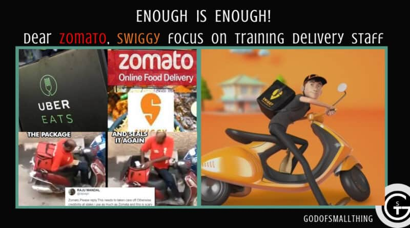 Dear Zomato, Swiggy, It's high time you focus on training delivery staff