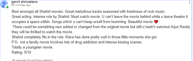 Kabir Singh Audience Review