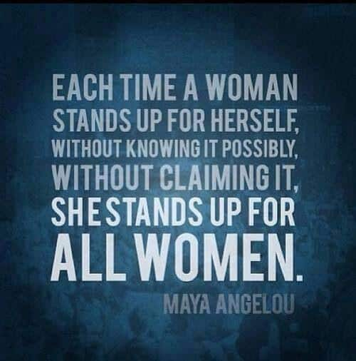 Stand up for Yourself women