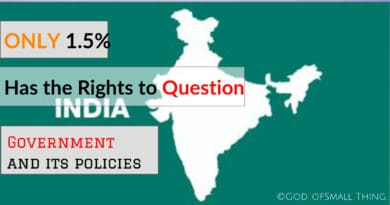 Only 1.5% Of The Population Has the Rights to question Country and It's Policies