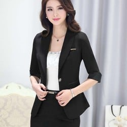 office looks for ladies fusion of a dress and a blazer. business formals for Indian women