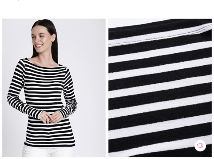 Gossip Girl Fashion: Gap women black striped regular knitted top from Myntra