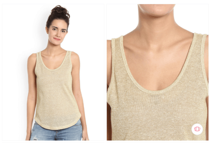 Fashion steals from Gossip Girl: The Vero Moda women beige top from Myntra