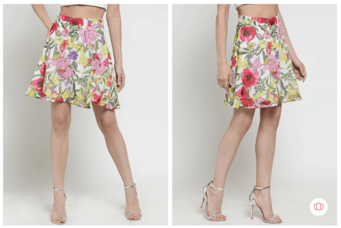 Gossip Girl Fashion: Buy Sera women multi-colored- floral printed mini skirt from Myntra