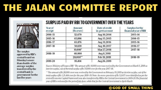 Decoding the Jalan committee report  . Explained: How and why RBI transferred 1.76 trillion to the government