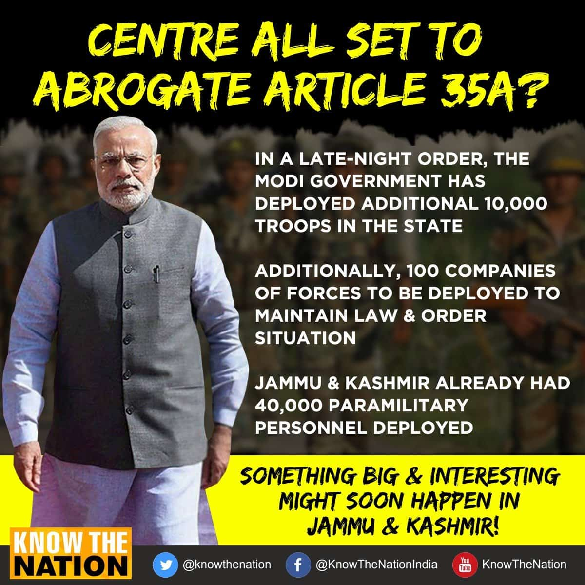 Government all set to abrogate article 35A