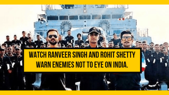 [Watch Video]Ranveer Singh and Rohit Shetty warns enemies not to eye on India
