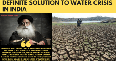 Definite solution to water crisis in India