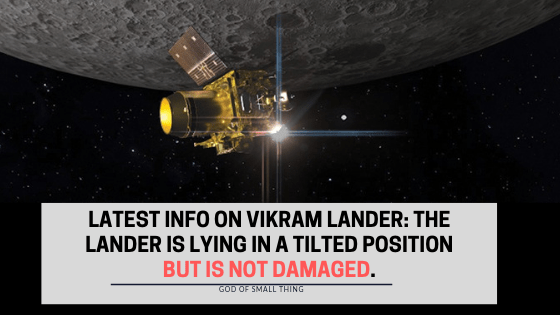 Latest Info on Vikram lander