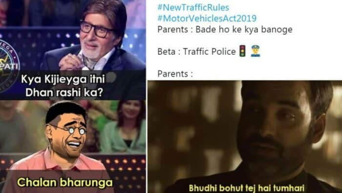 Memes on new traffic rules 2019