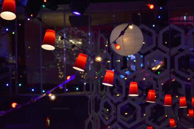 Paper cup lights decoration