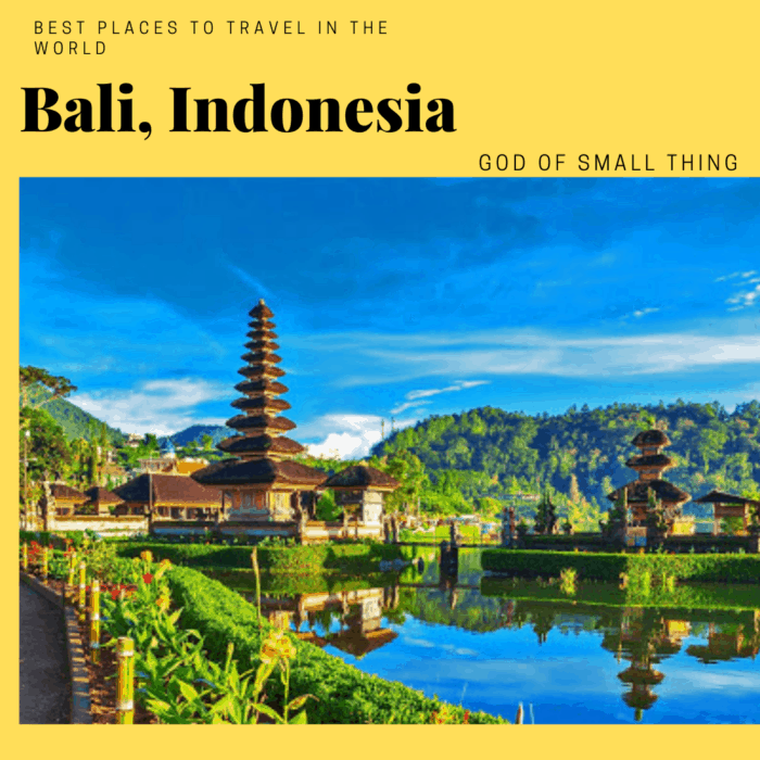 best vacation spots in the world: Bali Indonesia