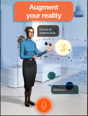 Best augmented reality app for android: Mondly AR