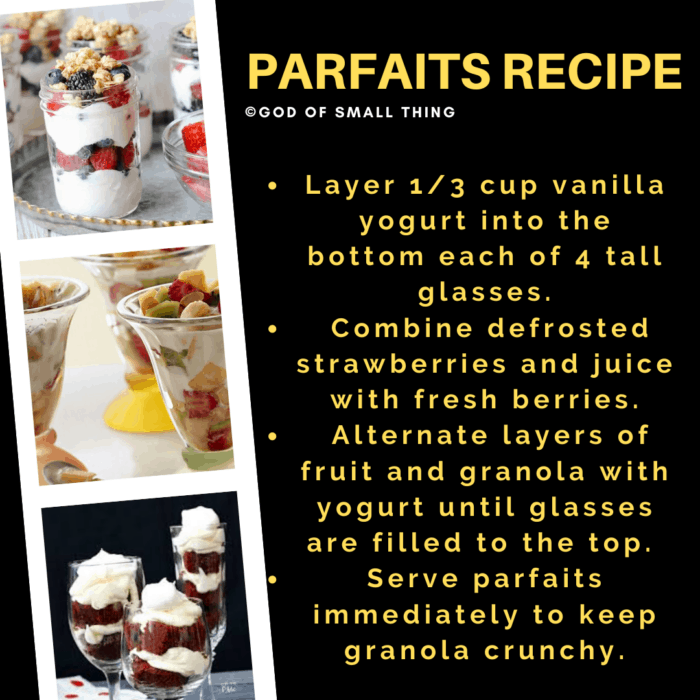 Parfaits Recipe Instructions step by step