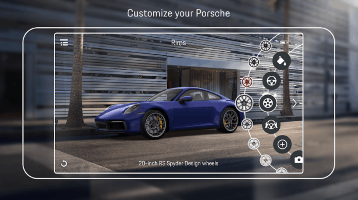 Best augmented reality app for android: Porsche AR