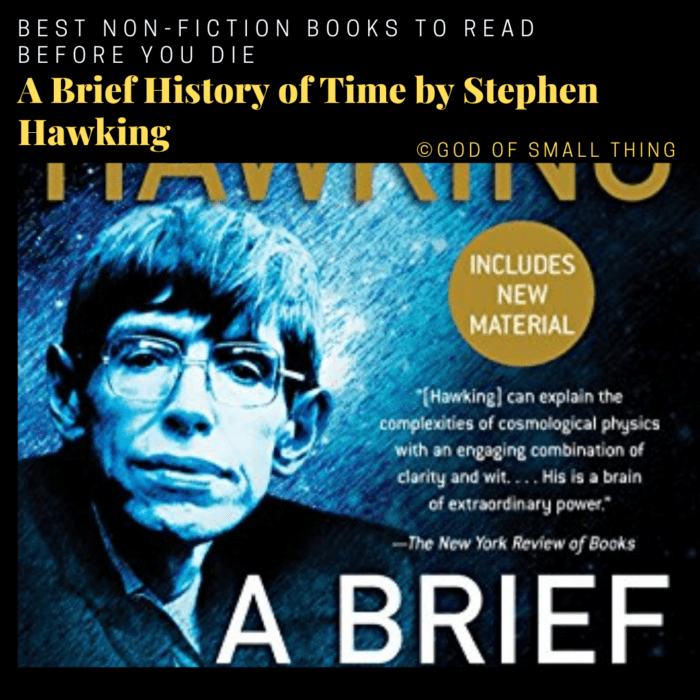 best non-fiction books: A Brief History of Time by Stephen Hawking