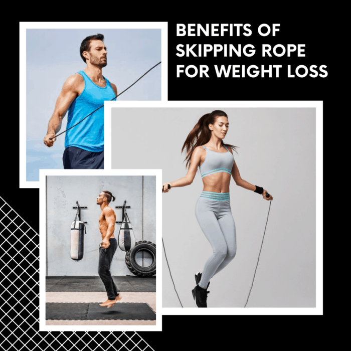 Benefits of skipping rope for weight loss