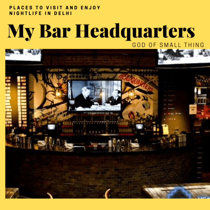 Best Lounges in Delhi: My Bar Headquarters