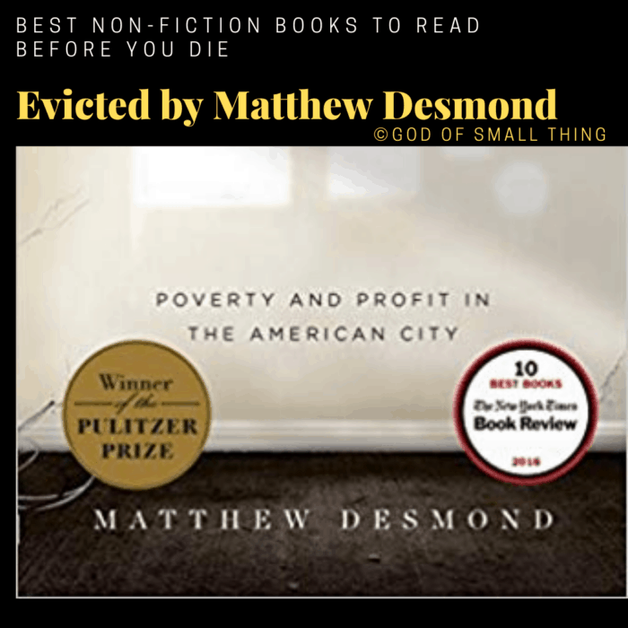 best non-fiction books: Evicted by Matthew Desmond