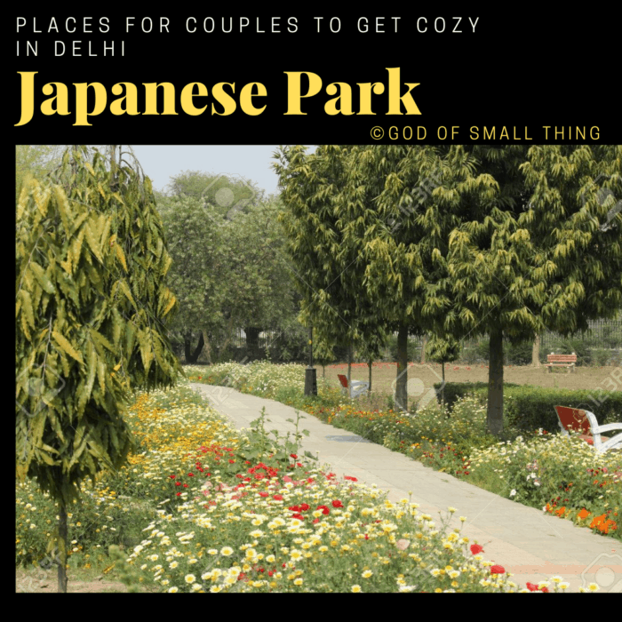 Places for couples to get cozy in Delhi: Japanese Park