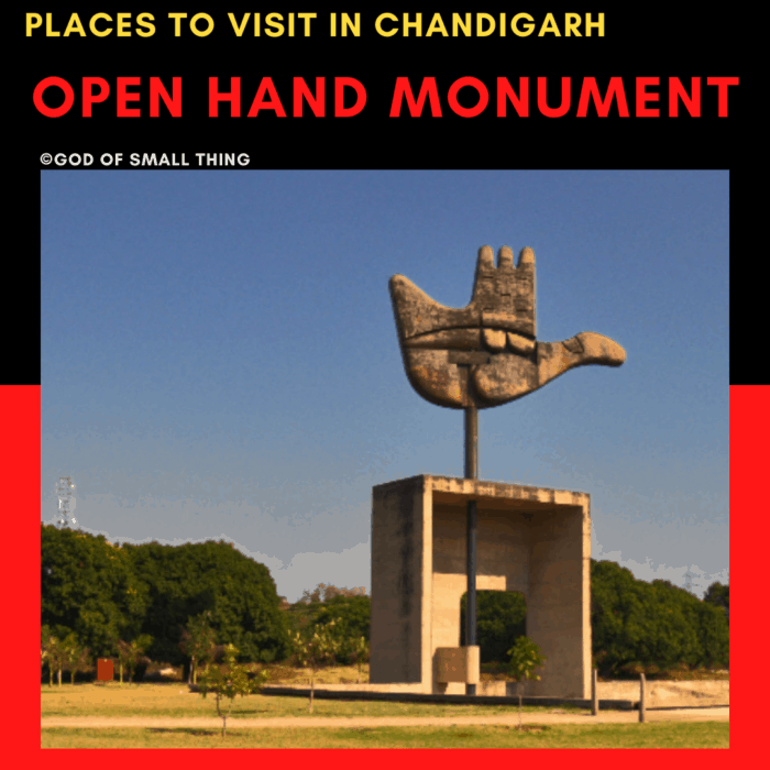 Places to Visit in Chandigarh Open Hand monument