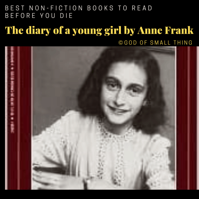 best non-fiction books: The diary of a young girl by Anne Frank