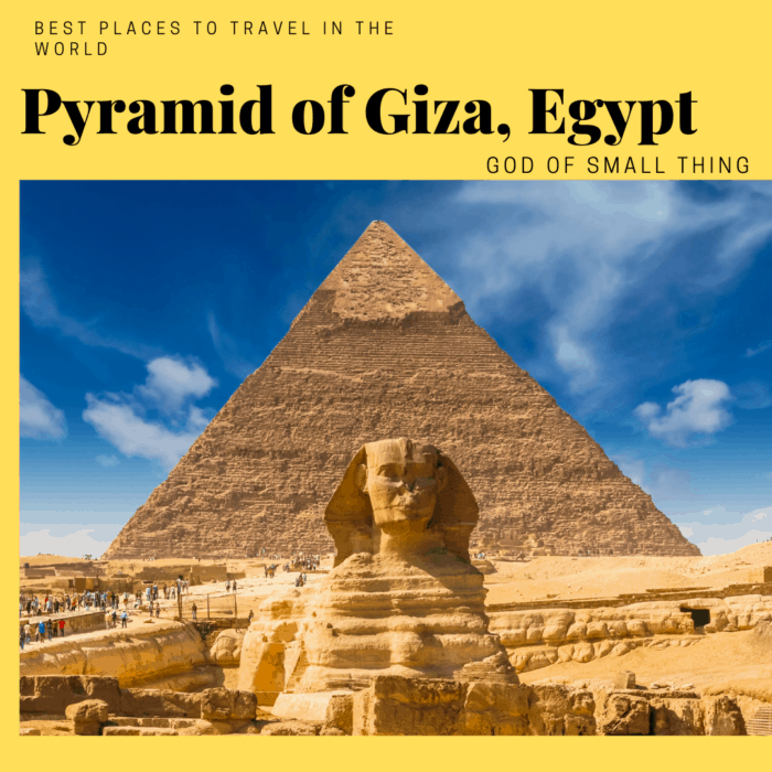 best vacation spots in the world: Egypt