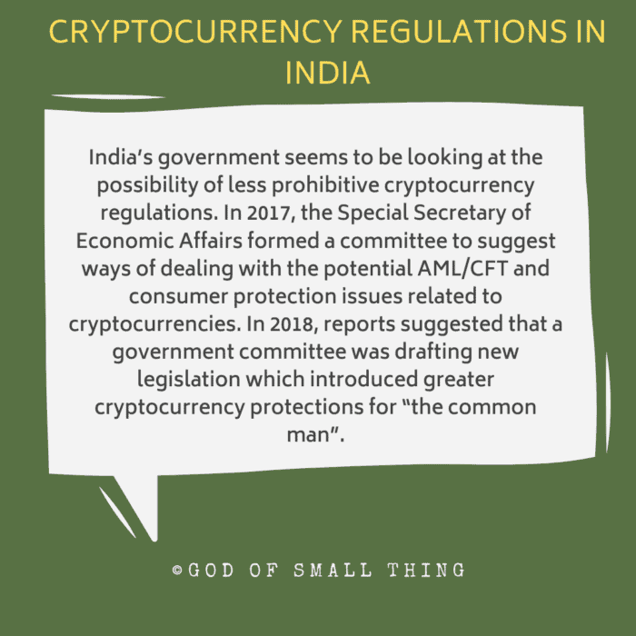 cryptocurrency regulations in India