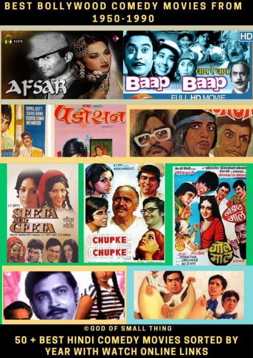 Best Bollywood comedy movies from 1950-1990