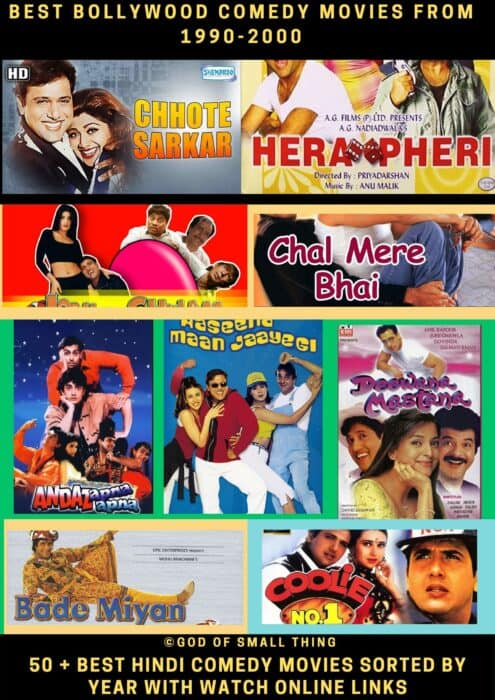 Best Bollywood comedy movies from 1990-2000