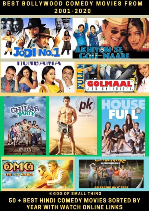 Best Bollywood comedy movies from 2001-2020
